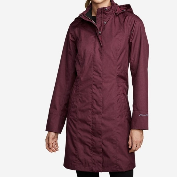Eddie Bauer Jackets & Blazers - Eddie Bauer Girl-on-the-Go Trench Coat in claret